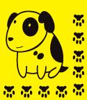 наклейки на стены собака, наклейка на стену пес, виниловая наклейка собака