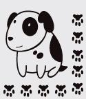 наклейка пес-барбос, интерьерная наклейка собака, прикольные наклейки