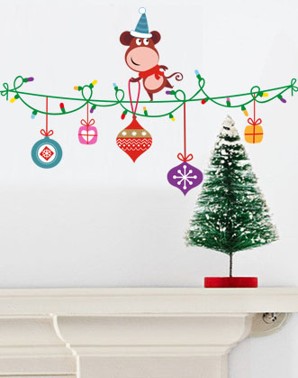 оригинальный подарок на новый год, подарок на новый год, оригинальный подарок, интерьерная наклейка, украсить на новый год
